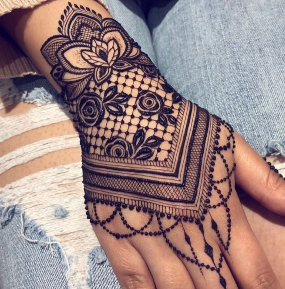 bridal mehendi design mehndi henna lotus jewellery leaf lotus