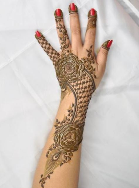 bridal mehendi design mehndi henna roses gulab
