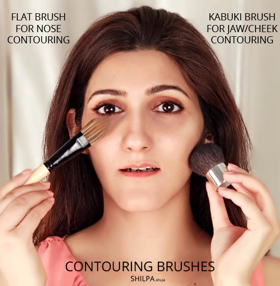 contouring-brushes-makeup--beauty-hacks-brows-at-home