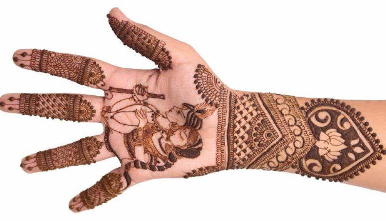 simple mehndi designs for hands krishna