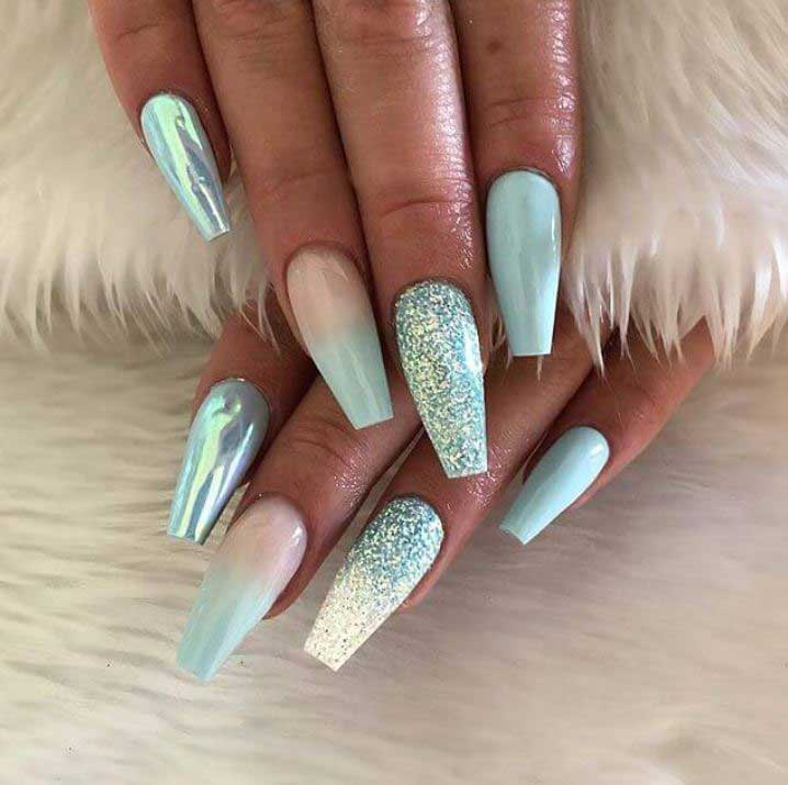 Latest-Nail-Design-Trends-for-2019-nailsbybano-mixed-media
