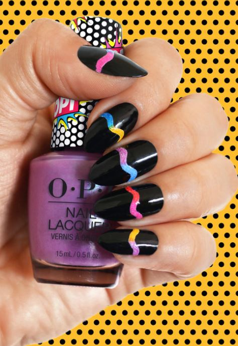 Latest Nail Design Trends for 2019 opi pop art