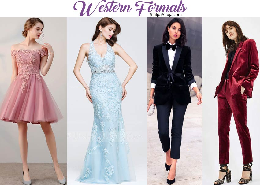best dress for farewell party female western-formals