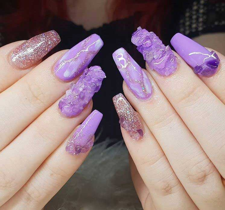 latest-Nail-Art-Ideas-2019-acid-nails-amethyst