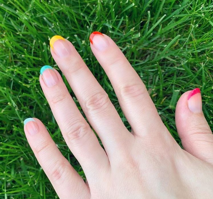 new nail art designs ideas trends 2019 rainbow tips