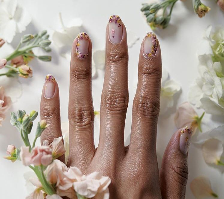 new nail art designs ideas trends 2019 real dried flowers