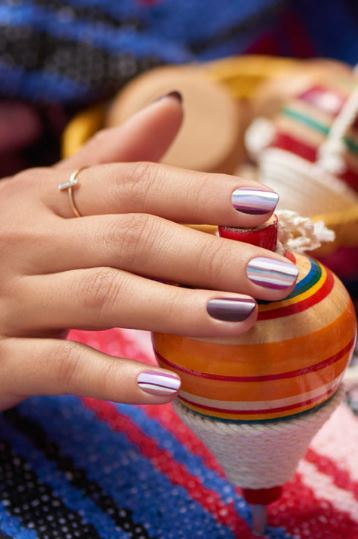 top Nail Design ideas for fall 2019 stripes opi