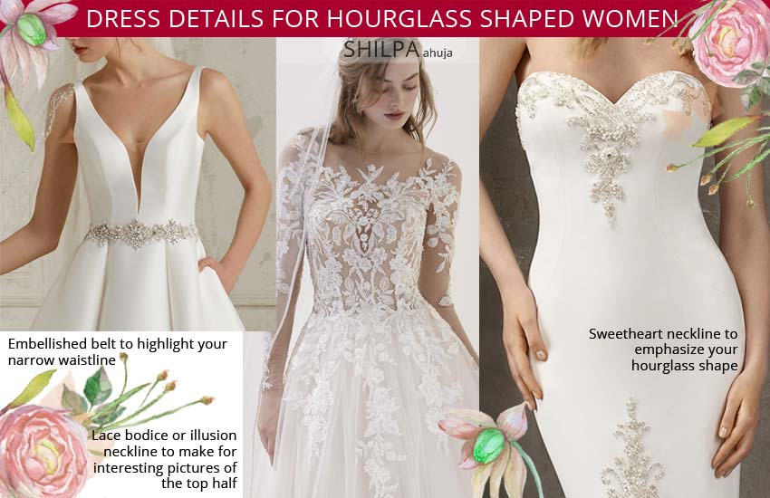 how to select a wedding dress-for-hourglass shape-body-type-women