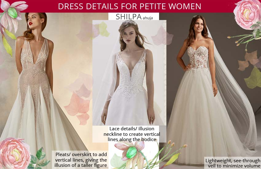 how to select a wedding dress-for-petite body-type-bridal gown
