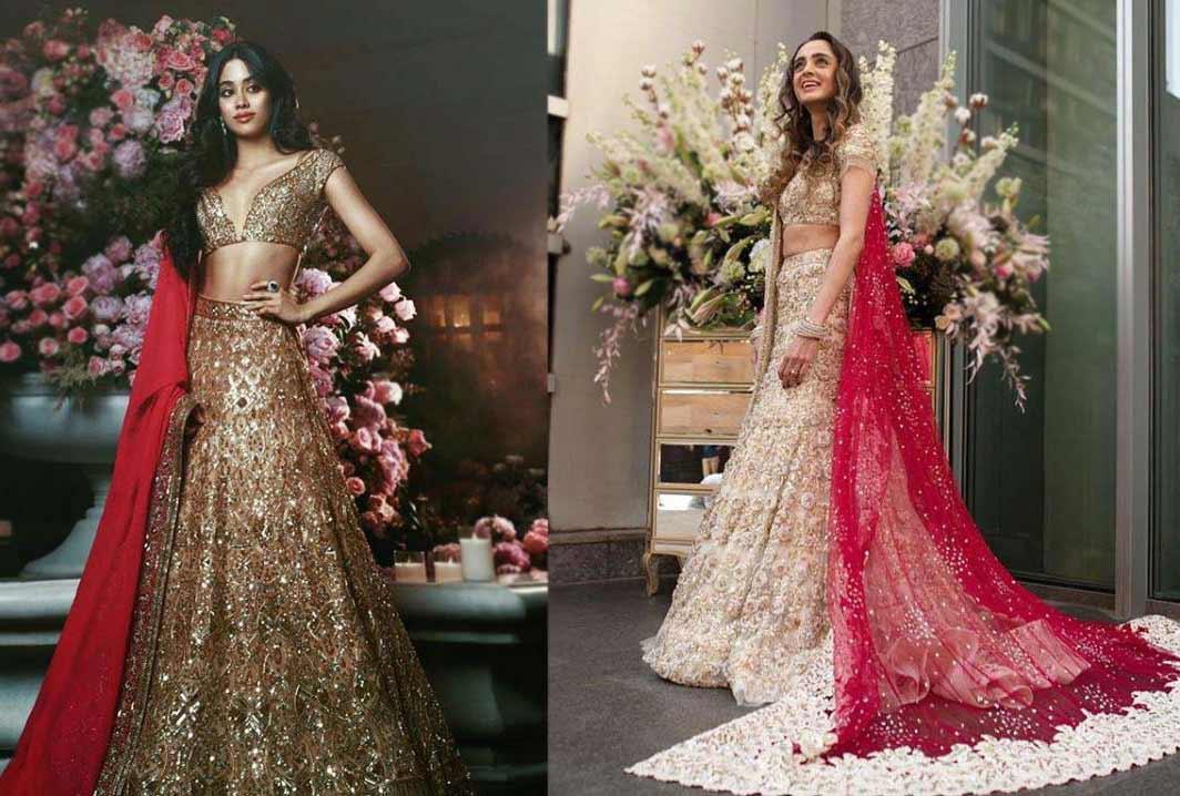 Latest-Lehenga-Trends-2019-Contrasting-Choli-Dupatta-Manish-Malhotra-1
