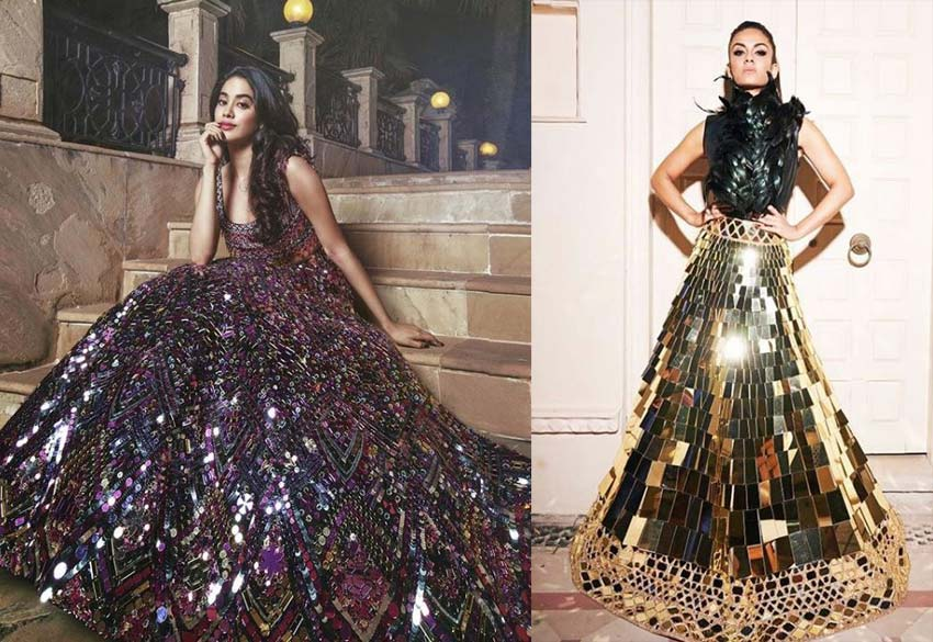 Top Lehenga Design 2019 Mirror Sequins Manish-Malhotra