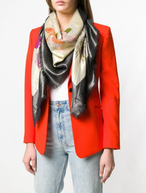 gucci flora Gothic print scarf comes in a timeless colorway