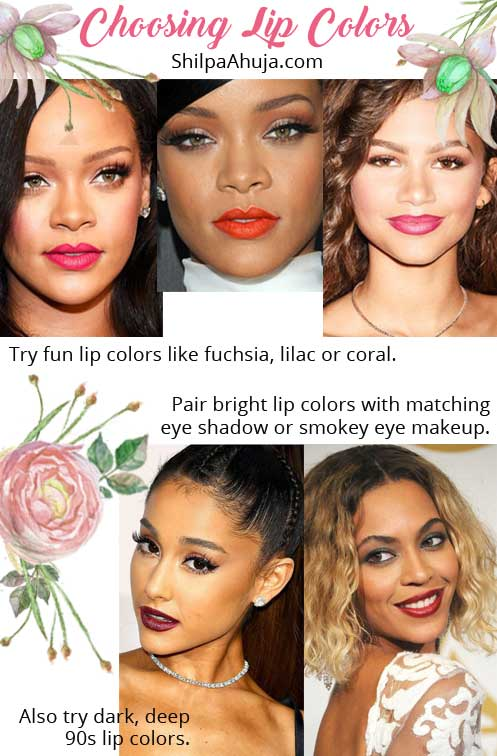 Dark Skin Makeup tips tricks lipstick shades lip-colors