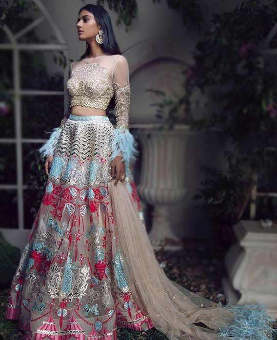 Illusion-Neck-Lehenga-Choli-Designs-2019-Illusion-Neckline-Falguni-2