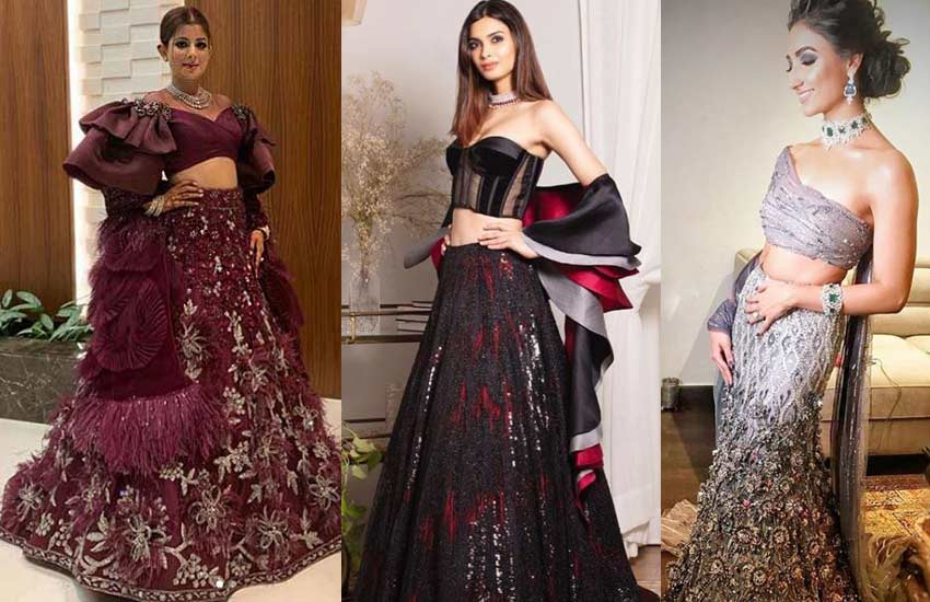 Lehenga-blouse-Trends-2019-strapless-Choli- Manish Malhotra