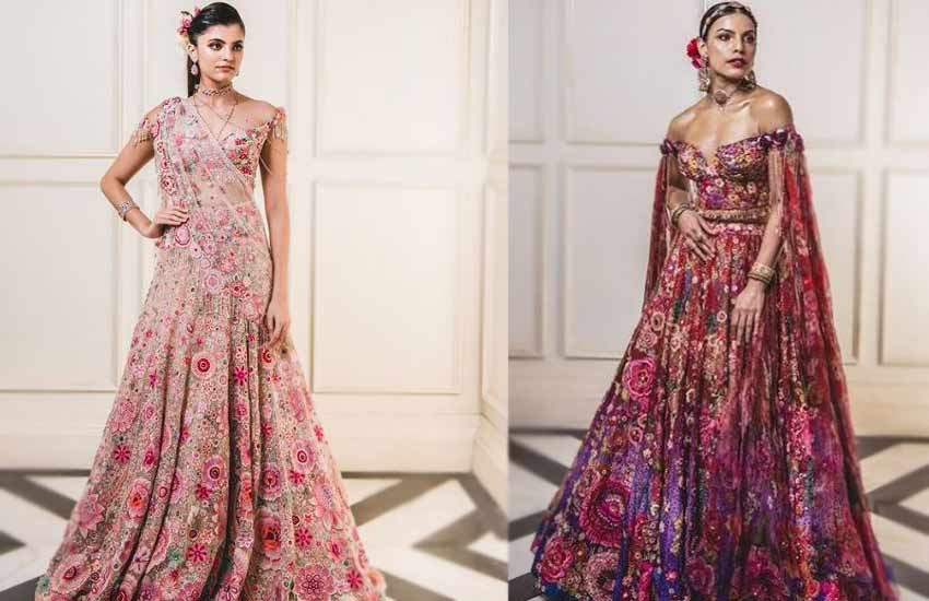 Lehenga-blouse Trends-2019-strapless Choli-Tarun-Tahiliani