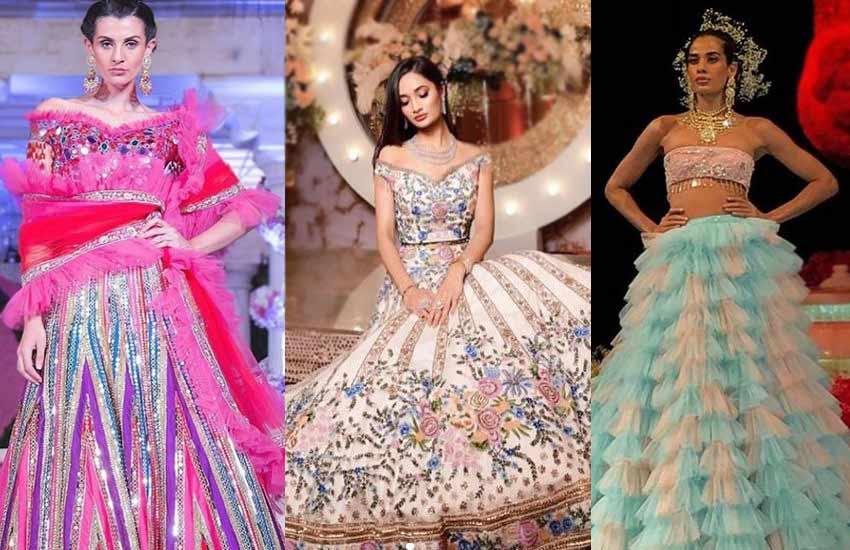 Lehenga-blouse Trends-2019-strapless Choli-suneet-varma