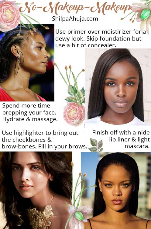Makeup Dark Skin celeb Look Beautiful no-makeup makeup tips