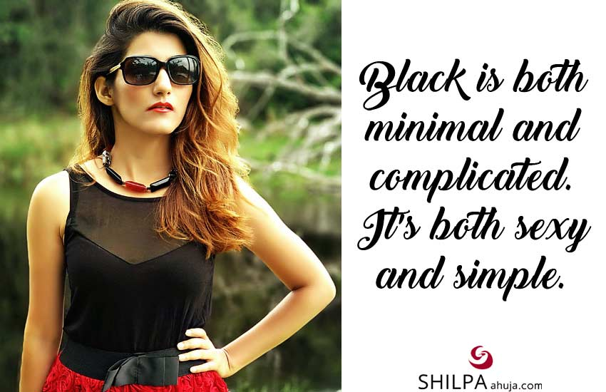 Short Black Dress Captions & Black Color Quotes sayings lbd