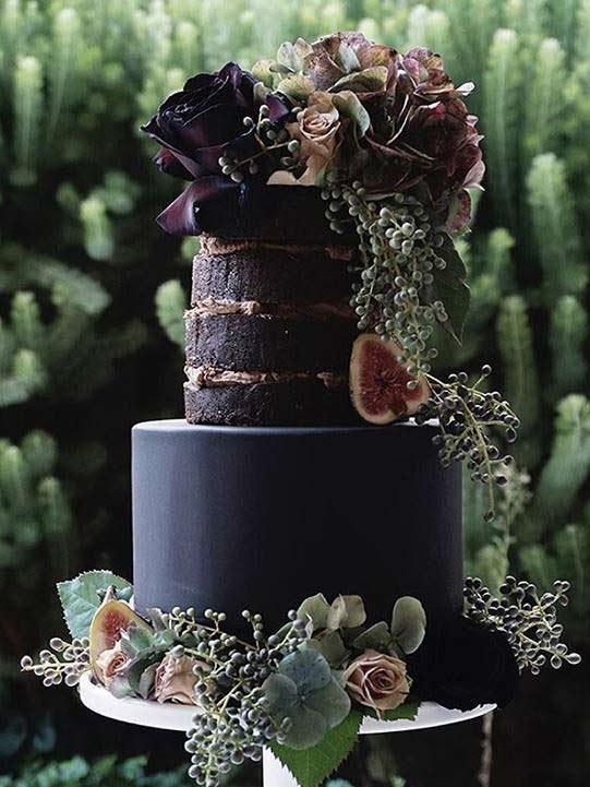 Trendy-wedding-Cake-Designs-2019-black-kissmycakeaustralia