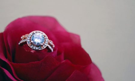 beautiful diamond ring rose