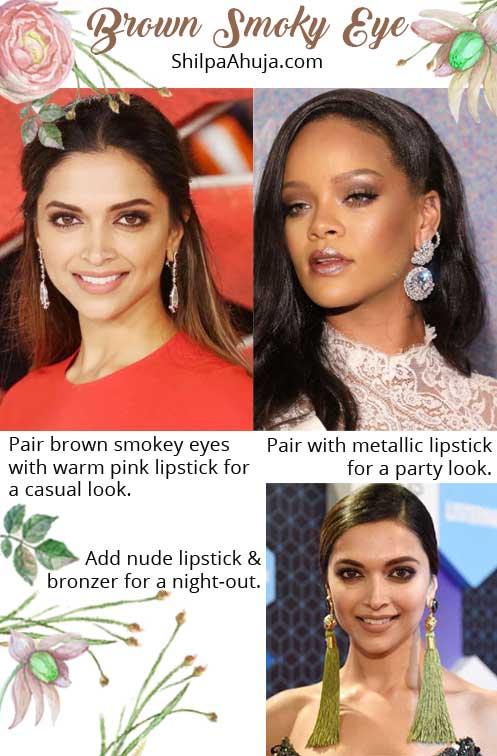 eye makeup dark skin tone tips advice beauty looks brown-smokey