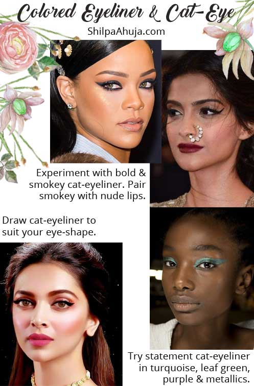 eye makeup dark skin tone tips advice beauty looks cateye