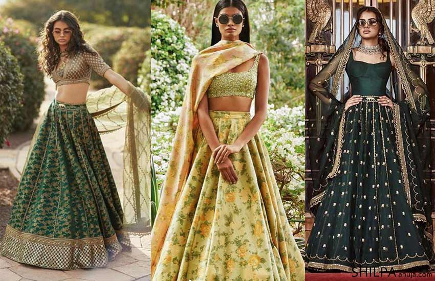 latest-designer-lehenga-color-combinations-2019-GREEN