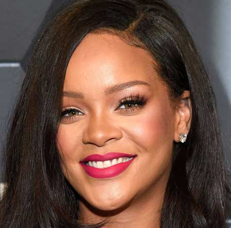 rihanna makeup for dark skin blush eye makeup lipstick 23