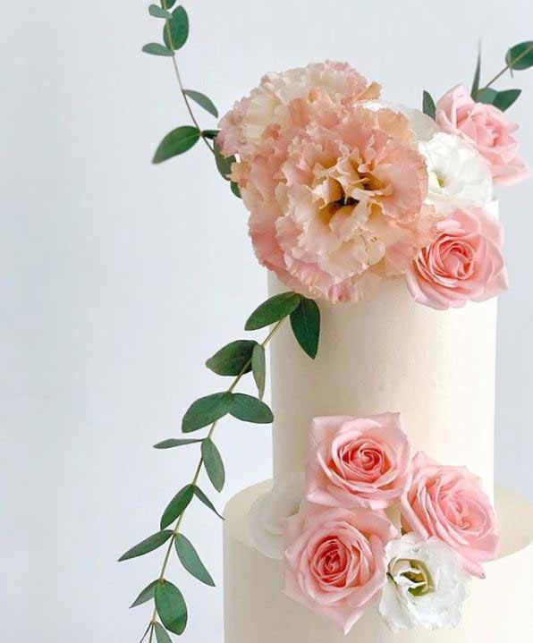 trendy-wedding-Cakes-2019-sugar-flowers-elegancemadeedible