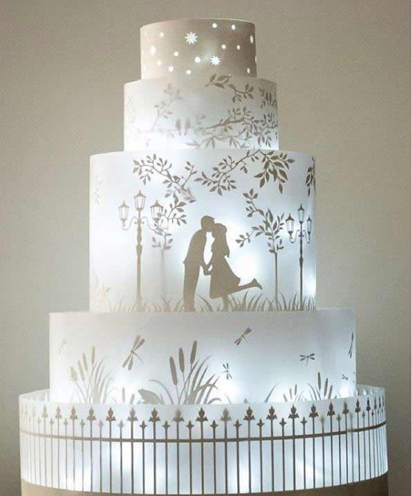 unique-wedding-Cake-trends-2019-lighting-rosalindmillercakes