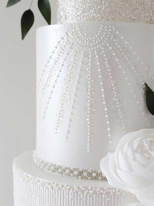 unique-wedding-Cake-trends-2019-pearls-designercakeco