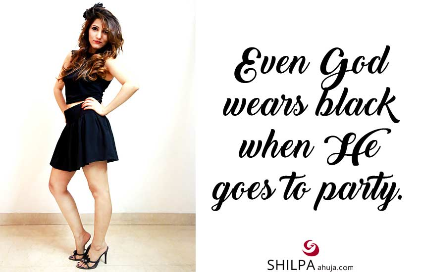 witty wearing-black-Dress-Quotes-outfit-captions-ig-Instagram