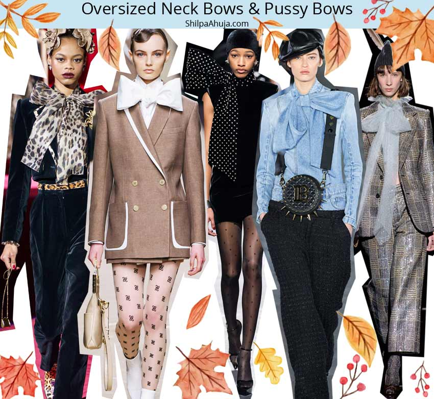 fall 2019 winter 2020 trends Oversized Neck-Bows-&-Pussy-Bows