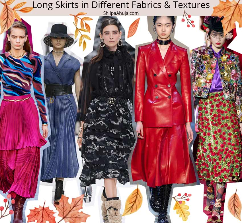 fall winter 2019 2010 fashion trend runway long-skirts