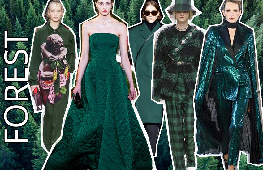 fall winter 2019 2020 fashion color trends forest green