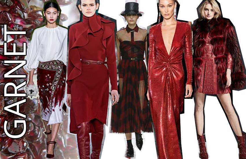 fall winter 2019 2020 fashion colors latest fashion red garnet