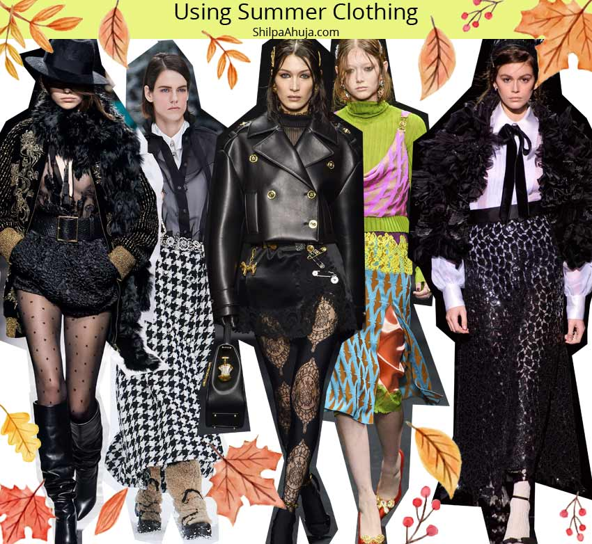 fall winter 2019 trends fashion style Using-Summer-Clothing