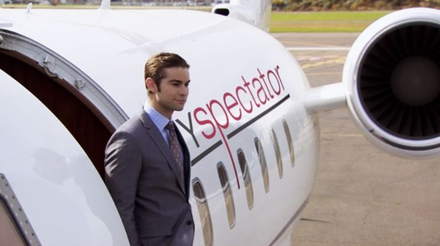 private jet gossip girl