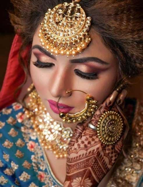 wedding dulhan Kamna-Sharma-MUA-via-Instagram