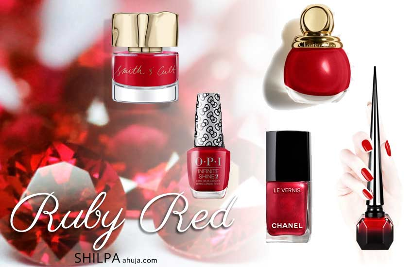 best nail paint colors 2019 2020 trends ruby-red
