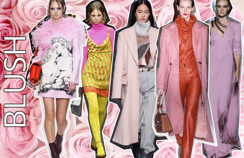 fall winter 2019 2020 color trends fashion pink blush
