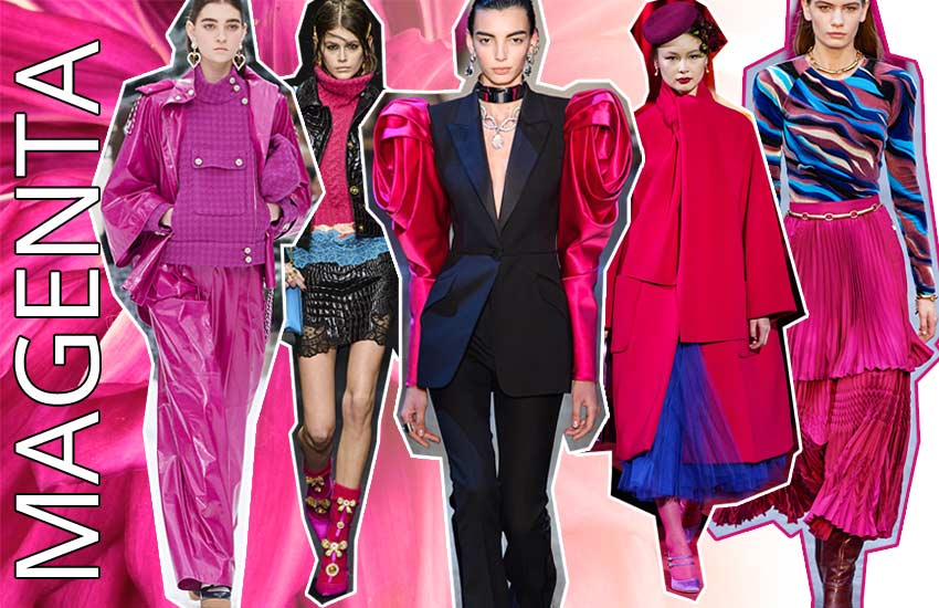 fall winter 2019 2020 color trends fashion pink magenta