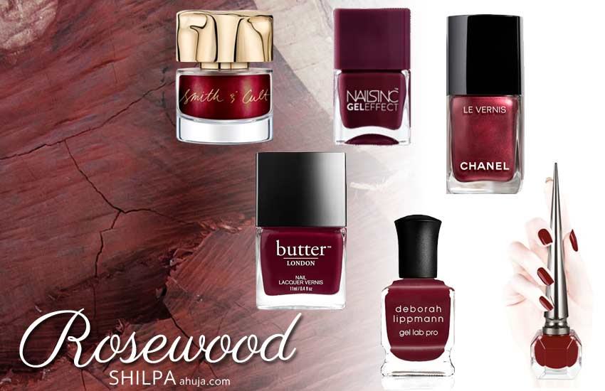 most popular nail paint colors 2019 2020 winter rosewood