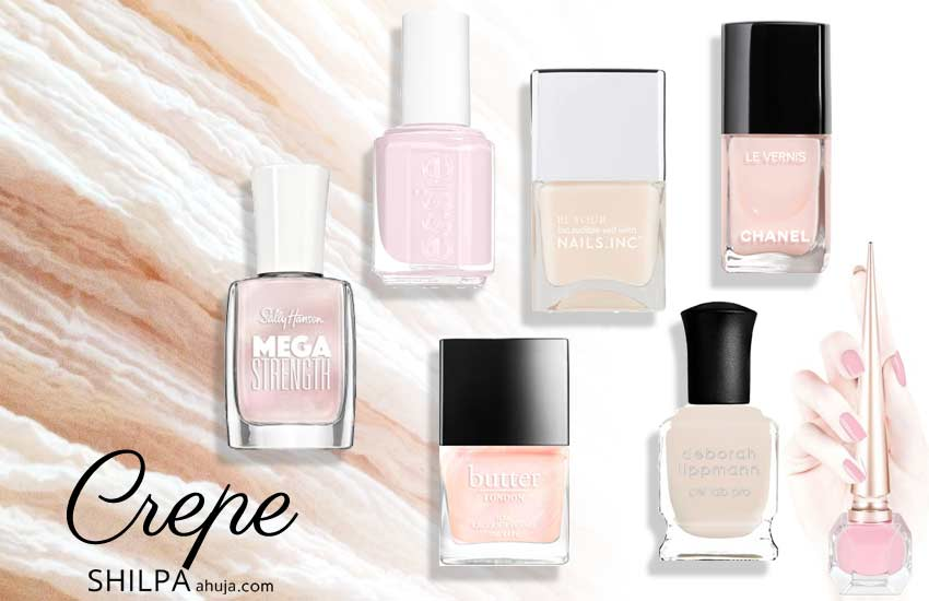 top latest nail polish colors fall 2019 winter 2020 crepe