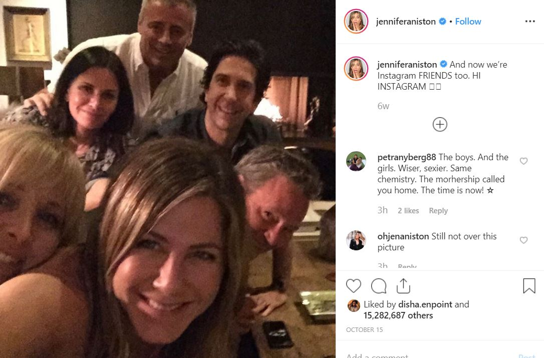 instagram types of selfie captions jennifer aniston