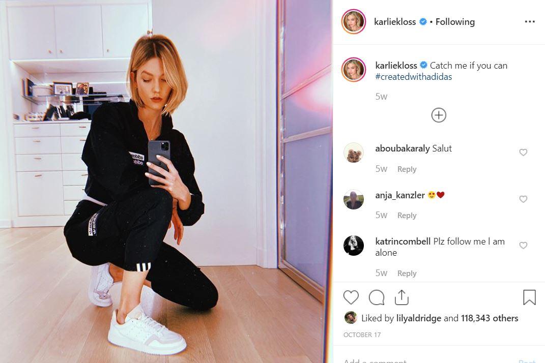 instagram types of selfie captions karlie kloss advertorial