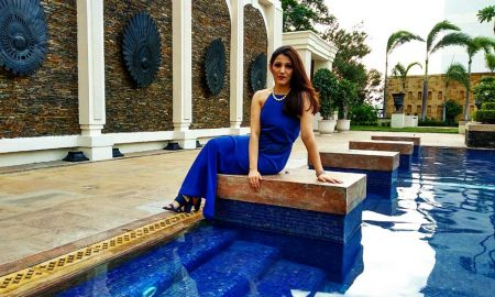 pool side dress blue party outfits shilpa ahuja
