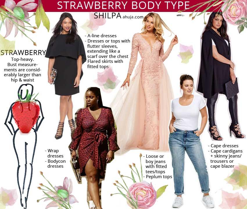 How to Dress Curvy Body shape-type fashion strawberry