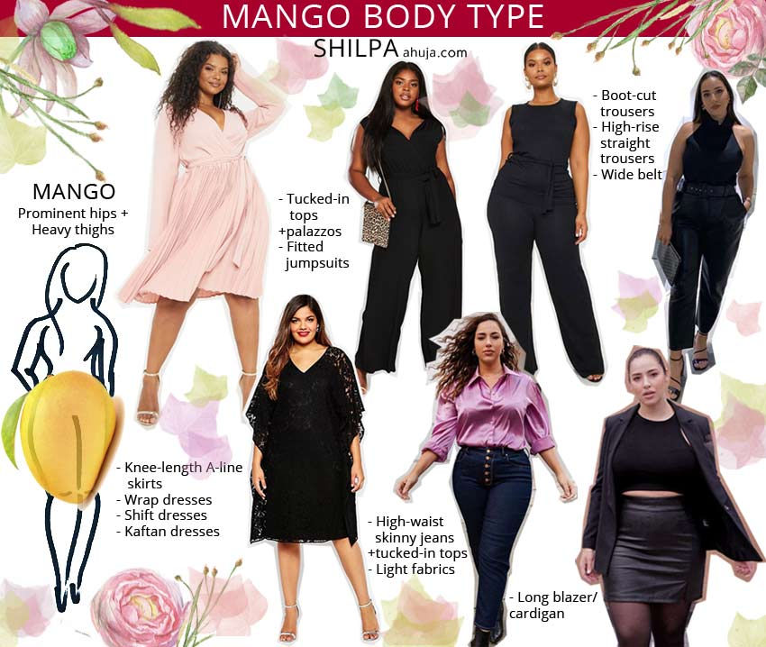 How to Dress a Curvy Body shape-mango type